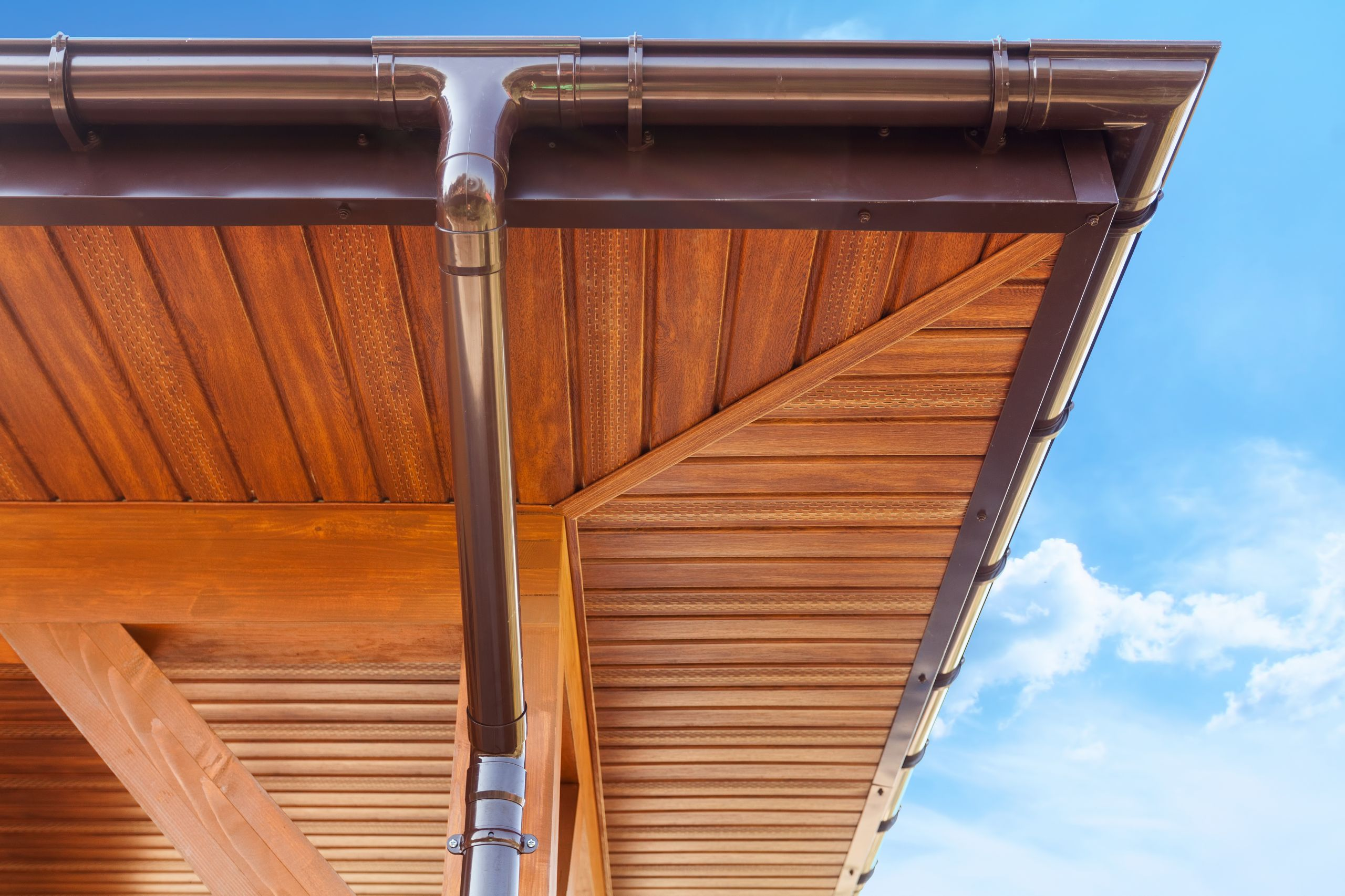 Copper Gutter Installation and Replacement for residential home